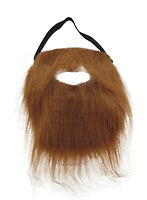 Brown Full Beard and Mustache Costume Accessory