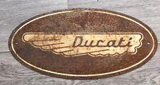 DUCATI Classic wing logo reproduction patina sign.