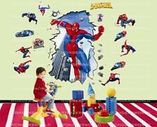 Super Eroe Spiderman Adesivi Da Parete Decalcomania Art Decorazione NURSERY KIDS SALOTTO CAMERA DA LETTO