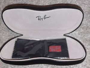 Ray-Ban Hard Black Glasses Case with Free Ray-Ban Cleaning Cloth