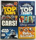 Super Mini Top Trumps 4 Packs Star Wars Disney Pixar Baby Animals Cars - Sealed