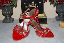 BATA ITALY RED PATENT LEATHER SLINGBACK WOMEN HEELS SANDALS SHOES EU 36 M US 6 M