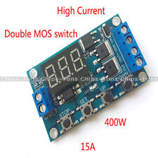 Trigger Cycle Timer Delay Switch Circuit Board MOS Tube Control Module DC 12-24V