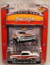 WHITE 1968 BUICK GS400 GREENLIGHT 1:64 SCALE DIECAST METAL MODEL CAR