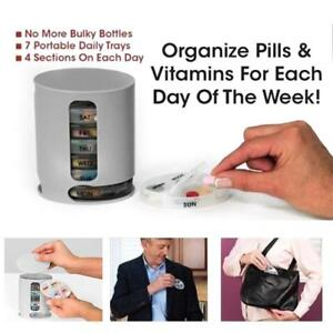 New 7 Days Pill Pro Compact Organiser Daily Removable Tray Pill Vitamin Storage