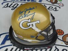 Bill Curry signed Georgia Tech GT Yellow Jackets mini helmet COA Packers Colts