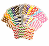 PAPER BAGS POLKA DOT/CHEVRON/STRIPE SWEET PARTY SMALL MEDIUM CAKE FAVORS COUNTER