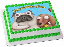 PIG THE PUG  EDIBLE  ICING  CAKE TOPPER PARTY IMAGE FROSTING SHEET