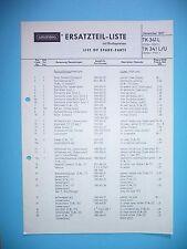 Liste de pièces de rechange pour Grundig tk 341 L, original