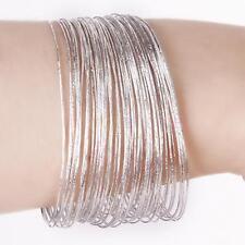 Wedding Hoop Bracelet for Women with Bracelet Charms in Silver 50Pcs/Lot