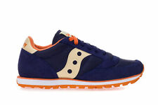 13e00dd26eb0 SAUCONY Women s JAZZ LOW PRO Sneakers Shoes In High Tech Fabric And Blue  Suede