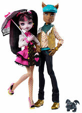 Monster High Draculaura & Clawd Wolf Sammlerpuppe SELTEN V7961