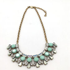 J.Crew Crystal & Blue Stone Pendant Necklace