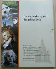 Alemania - 2005 - 6 monedas conmemorativas-folder - 999er plata tirada-nuevo