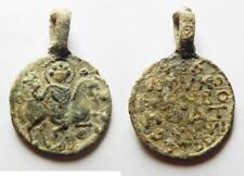 ZURQIEH -as2432- BYZANTINE. 10-11th century. Lead amulet (34x24mm).