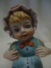 VINTAGE OLD PORCELAIN  BABY GIRL PIANO DOLL FIGURINE FREE SHIPPING