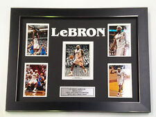 LeBRON JAMES PROFESSIONALLY FRAMED, SIGNED PHOTO COLLAGE WITH PLAQUE