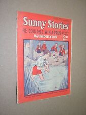 SUNNY STORIES MAGAZINE. ENID BLYTON. HE COULDN'T WIN A PRIZE. MAY 1952. No.534