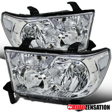 For 2007-2013 Toyota Tundra 2008-2014 Sequoia Clear Lens Headlights Lamps Pair