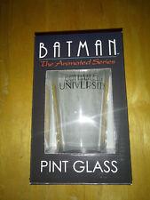 Batman Animated Series Pint Glass Gotham City University  Diamond Select