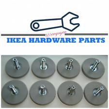 8 IKEA BESTA Gray Adjustable Round Feet Leveler Base for Cabinet Part# 115988