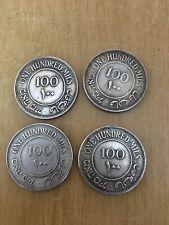 X4 Palestine Coins 100 Mils - 1927 - 1931 - 1933 - 1934