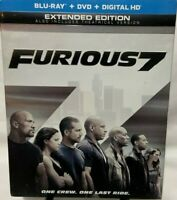 Furious 7  Blu-ray+DVD  Extended Edition, Vin Diesel,Paul Walker,Dwayne Johnson