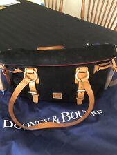 Dooney & Bourke Medium Suede Satchel-Black