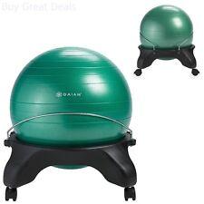 Balance Ball Chair, Gym Equipment Barckless Exercise Ball Chair, Green - New
