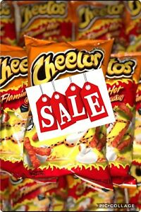 2x Cheetos Crunchy Flamin Hot LARGE 8oz/226g Bags American Import Cheese Snack