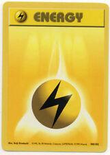 4x Lightning Energy - 100/102 - Common - Unlimited Edition Base Set Pokemon Near