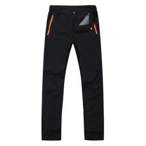Mens Cargo Walking Camping Trousers Soft Shell Climbing Hiking Casual Long Pants