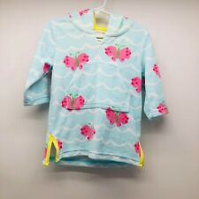Pottery Barn Kids Girls Terry Cover Up W/ Hoodie Butterfly 12-18M Nwot