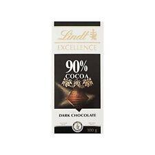 LINDT Excellence 90% de cacao Chocolat noir Bar, 100 G-Pack de 5