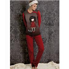 Pajamas Santoro Everything Red, Winter Warm Cotton, Jersey, Woman/Girl 2 Pieces