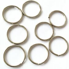 50 Split Rings KeyChain Steel Plated 24mm  Made In USA