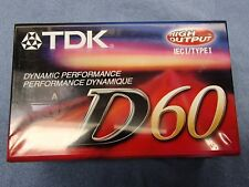 TDK D60 BLANK CASSETTES HIGH OUTPUT IEC 1 TYPE 1