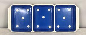 Vintage Waechtersbach West German Polka Dot Divided Tray - 33cm x 13cm
