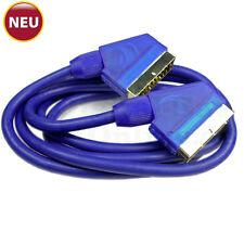 Scart-Kabel vergoldet voll beschaltet 21 Pin blau 10m NEU