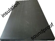 black sound proofing heat insulation closed cell foam 2mtr x 50cm x 10mm
