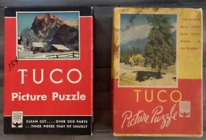 """2 Vintage TUCO Deluxe Picture Puzzles both Complete 12""""x16"""""""