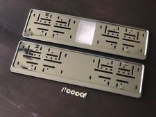 Kennzeichenhalter Nummernschildhalter Edelstahl Chrom Grey Grau Made in EU (73