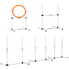 PawHut Dogs PE Set-of-3 Obstacle Agility Training Set White
