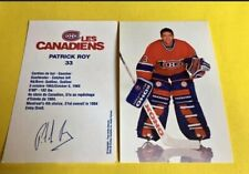 Patrick Roy Canadiens Hockey Postcards