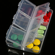 New Plastic Storage Braille Tablet Container Medicine Holder Pill Boxes 6-day