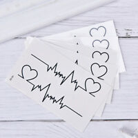 heart tattoo temporary ECG products waterproof disposable tattoo'sticker QP