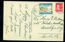 Norway 1934 Christmas seal + 20ore tied Vesbanea on postcard, Vf