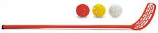 Set 6 Schläger 3 Bälle für Hallenhockey, Streethockey Tolle Qualität Glasfiber
