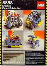 Lego Technic 8858-2 8858 engine set 100% complete with Auto Engines manual