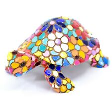 Barcino Hand Painted Limited Edition Flower Mosaic Turtle Tortoise Figure 54058